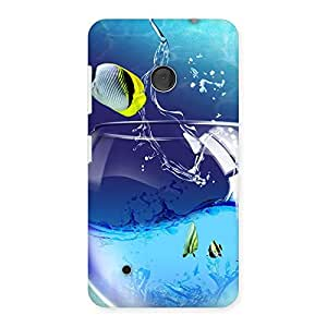 Premium Cute Tub Fish Back Case Cover for Lumia 530