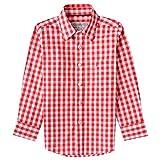 Almsach Trachtenhemd Eddi für Kinder in Rot inklusive Volksfestfinder, Farbe:Rot, Größe:140/146
