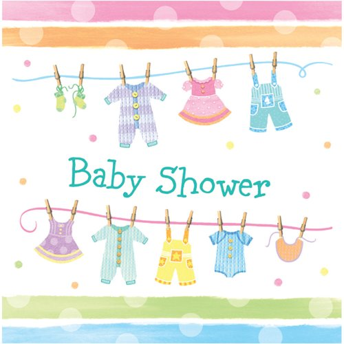 Printed Tableware 16 Baby Shower Napkins 33cm 3ply