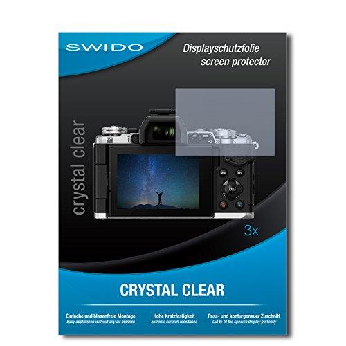Galleria fotografica 3 x SWIDO® Pellicola Protettiva Olympus OM-D E-M5 Mark II Screen Protector Pellicola Protettiva Film CrystalClear invisibile