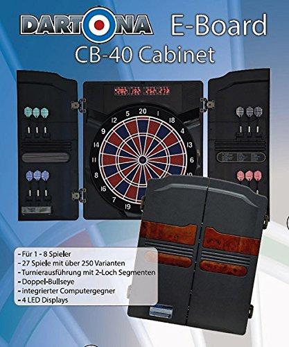 Elektronische Dartscheibe Dartona CB40 Cabinett – Turnierscheibe mit 27 Spielen und über 150 Varianten - 3