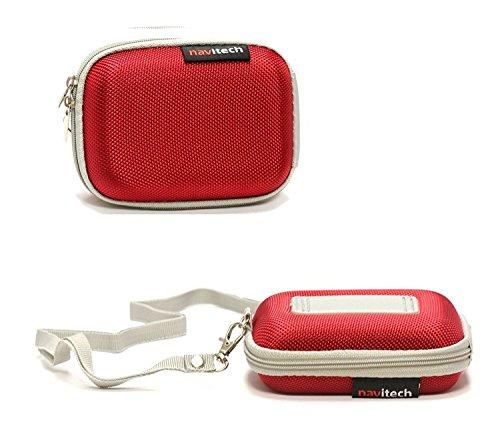 Navitech Rouge Cas/Housse Compatible avec Urbanista Tokyo New Edition True Ergonomic Wireless Earbuds