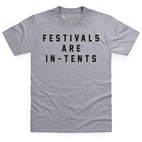 Festivals Are In-Tents Boyfriend Cut T-Shirt, Herren Grau Meliert