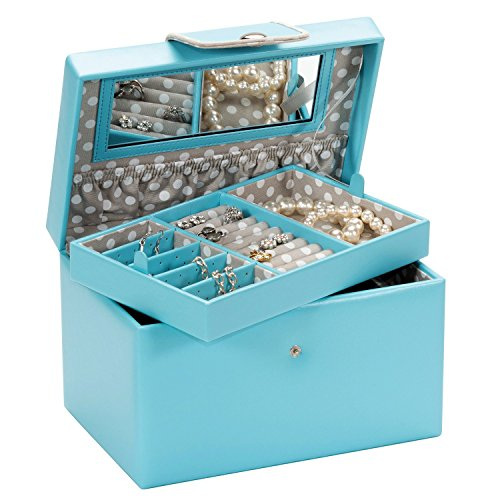 mia-duck-egg-blue-with-grey-polka-dot-lining-large-jewellery-box-by-mele-co
