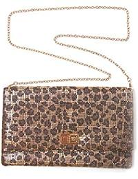 collezione alessandro - Cartera de mano para mujer Amarillo leopardo Talla única