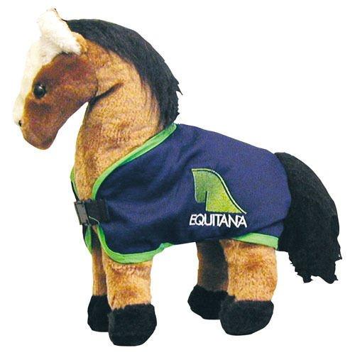 Plüschpferd stehend Equitana Pferdedecke