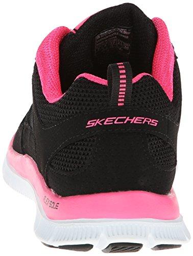 Skechers Flex AppealSpring Fever, Sneaker Donna Nero (Noir (Bkhp))