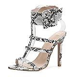 Pumps Damen,ABsoar Party High Heels Mode Schlange High Heels Schuhe Sexy Schnalle Fischmundschuhe Rutschfeste Sandalen mit hohem Absatz