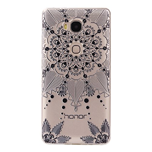 Price comparison product image Huawei Honor 5X Case, BONROY® Huawei Honor 5X Fashion colorful pattern Case Bumper Transparent Soft Gel Shockproof Case Resist Protection Shell for Huawei Honor 5X