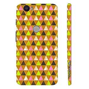Google Nexus 6P Hidden Hexagon designer mobile hard shell case by Enthopia
