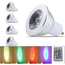 GU10 3W Ahorro De Energía RGB Multi Colores Led Color Cambiar RGB Bombilla Mando Iluminación Para El Hogar RGB LED GU10