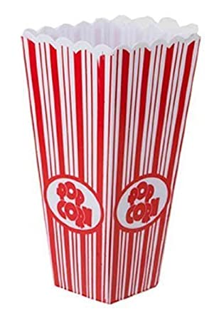 plastic popcorn box 20cms tall pack of 4