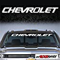 "Chevrolet 90 cm Aufkleber Aufkleber Autoaufkleber Auto Tuning Sticker Aufkleber mit Montage Set inkl. ""Estrellina-Montage-Rakel®"" & ""Estrellina-Glücksaufkleber®"""