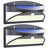 Luce Solare LED Esterno, Avaspot 100 LED Super Luminosa Lampada Solare con Sensore di Movimento, Wireless Luci Solari da Esterno Impermeabile Lampade Solari di Sicurezza per Giardino [2 Pezzi]