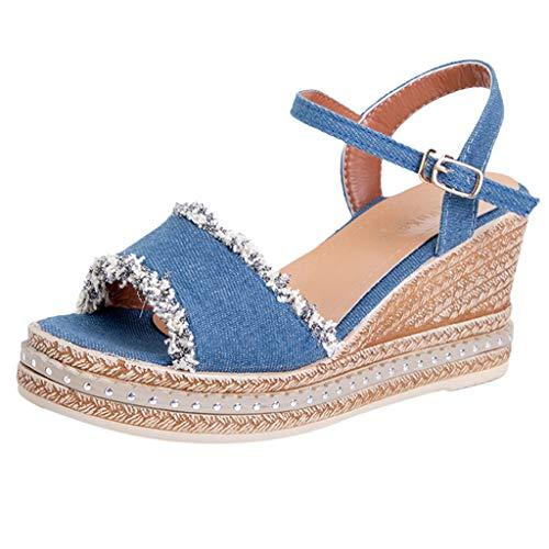 Sandalias Cuñas Plataforma Mujer Verano 2019 Zapatos