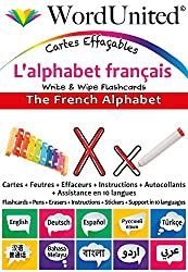 The French Alphabet - Write & Wipe Flashcards with Multilingual Support