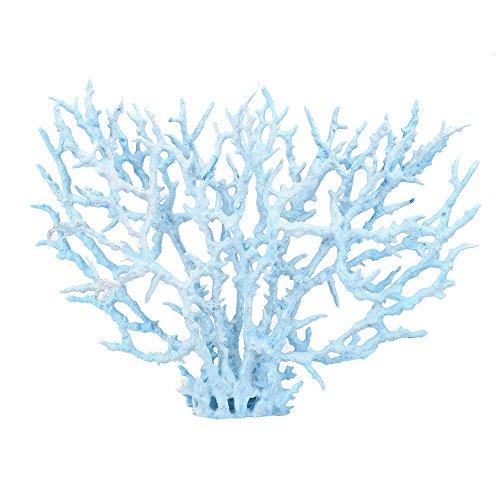 JenK Cing Aquarium Dekoration Korallen Versteckt Ornament für Aquarium Dekoration, Großen Kunststoff Pflanzen Aquarium Aquariumpflanze Fisch Tank Dekoration für Fische Garnelen Verstecken (Aquarium Sand Süßwasser-blau)