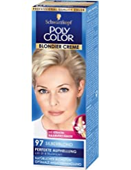 Poly Color Blondier Creme Coloration 97 Silberblond  Stufe 3, 3er Pack (3 x 89 ml)