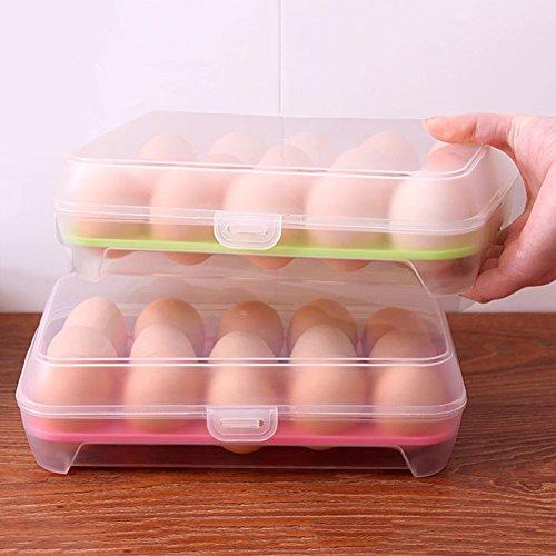 Ei Container, favolook Single Layer Kühlschrank Speisen 15Eier bruchsicherem Halter BPA-frei luftdicht Container Kunststoff Box House Kitchen Tools blau