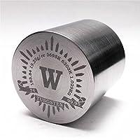 1kg Bellas girando tungsteno cilíndrico de Metal 41x 41mm 99,95% grabado tabla periódica