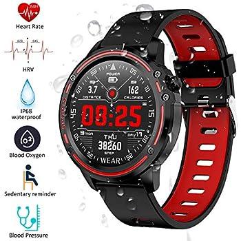 Padgene Smartwatch Reloj Inteligente IP68 Impermeable Bluetooth con Múltiples Deportes, Podómetro con Pulsómetro, Monitor de Sueño, Notificación de ...