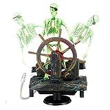 Importati in resina di plastica ruota aria acquario Skeleton ornamento Fish Tank nave decorazione 9.5x 7x 15cm