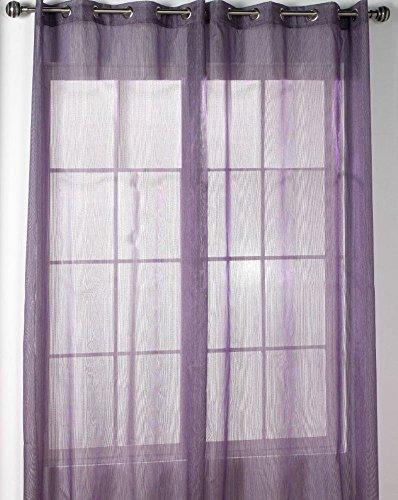 Rioma Alejandra - Visillo con ollados, 140 x 270 cm, color morado