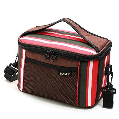 Sacchetto di raffreddamento di grande capacità scatola borsa da picnic borsa frigo portatile a righe cestino da picnic campeggio picnic pacchetto di ghiaccio sacchetto di raffreddamento,red