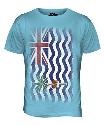 CandyMix Britisches Territorium Im Indischen Ozean Verblichen Flagge Herren T Shirt Himmelblau