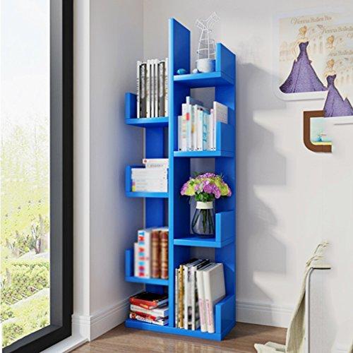 Bücherregal-Baum-Standplatz-Studenten-Bücherregal-Kinderversammlung Multifunktions ( Farbe : Blau ) Blau Bücherregal