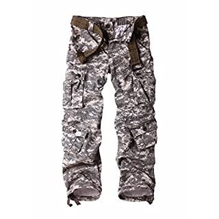 Men's Cargo Regular Trouser Army Combat Work Trouser Workwear Pants with 8 Pocket Digital 40