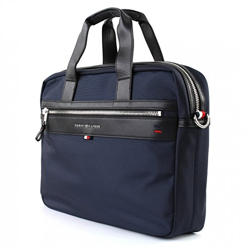 TOMMY HILFIGER AM0AM02962 ELEVATED COMPUTER BAG UMHÄNGETASCHE Harren Blau