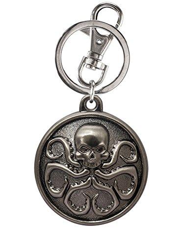 Monogram Marvel Hydra Logo Pewter Key Ring