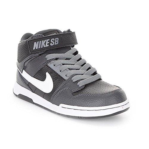 online store f3d53 783ee Nike Fille Mogan Mid 2 JR B Cuissard Skateboarding Chaussures - Noir -  Black Anthracite