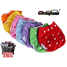 Pocket pañales lavables Pocket 5 piezas + 5 Puntas – Omaggio Wet Bag – Micropile – 7 colores