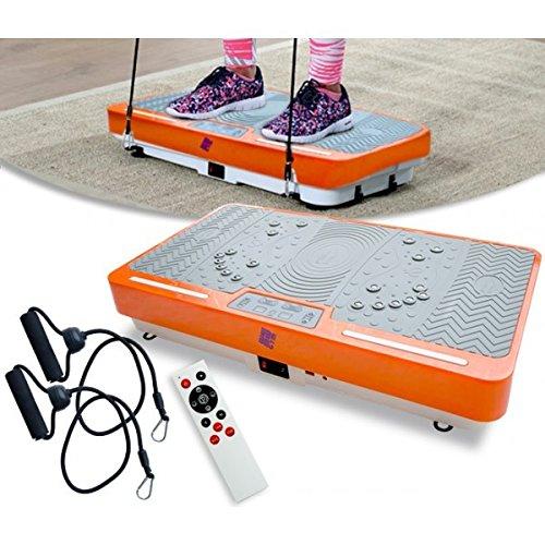 Plataforma Vibratoria Quemagrasas Shaper Vibrations Ejercitador por Vibraciones Con cuerdas y Mando distancia 480 por minuto
