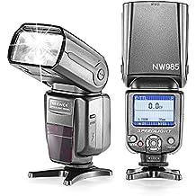 Neewer® NW985C E-TTL Pantalla de 4-Color TFT LCD *Sincronización de alta velocidad* Cámara Flash Speedlite para Canon EOS 700D / 650D T5i / T4i 600D / T3i 1100D / T3 550D / T2i 500D / T1i 100D / 400D SL1 / XTi 450D / 300D XSi / Digital Rebel 20D 30D 60D 5D Mark III 5D Mark II y Canon Cámaras DSLR Todos Otros