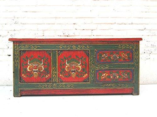 china-sottile-mobile-credenza-per-schermo-piatto-flat-screen-pino-dipinto-verde-scuro-e-rosso-di-lux