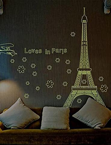 Doudouwo Architecture The Eiffel Tower in Paris Luminous Wall Stickers