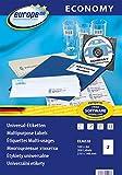 europe100 ELA026 Universaletiketten, 210 x 148.5 mm, 100 Blatt/200 Etiketten, weiß