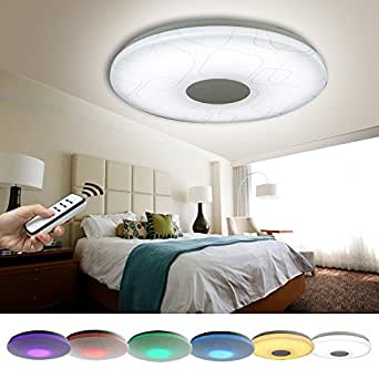 natsen led deckenlampe 24w rgb voll dimmbar x809 mit. Black Bedroom Furniture Sets. Home Design Ideas
