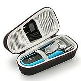 Borsa da viaggio rigida da viaggio per Braun Series 3 ProSkin 3040s Razor elettrica da uomo (dispositivo e accessori non inclusi) - Nera