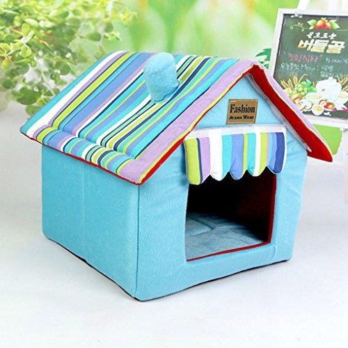 Stoff Akzent Möbel (muodu Hund Haus Katze Bett für kleine Hunde und Katzen Tragbare Innen Pet House)