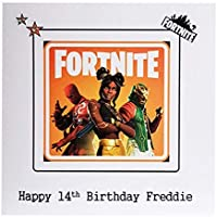 PERSONALISED FORTNITE HAPPY BIRTHDAY CARD - Greeting card for Fortnite gaming fans pc, xbox, ps4 personalised with Name & Age