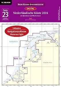Sportbootkarten Satz 23: Niederländische Küste (2014): Mit IJsselmeer und Markermeer