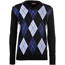 Pierre Cardin Hombre C Jersey Cuello Redondo Diseño Diamantes Negro/Gris/Wine XXL FY8LfsJ