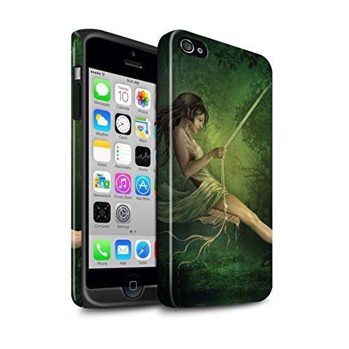 Officiel Elena Dudina Coque / Brillant Robuste Antichoc Etui pour Apple iPhone 4/4S / Poussière de Lutin Design / Un avec la Nature Collection Balançoire Étang
