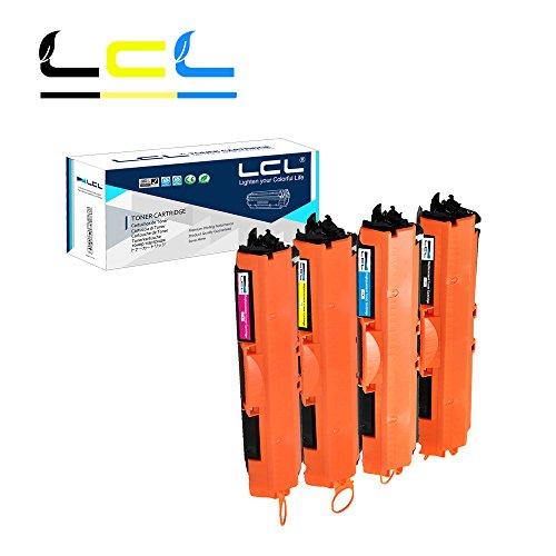 LCL(TM) 126A CE310A CE311A CE312A CE313A 729 CRG729 (4-Pack, Nero/Ciano/Magenta/Giallo) Cartucce di Toner Compatibile con HP Laserjet Pro CP1025/CP1025nw/CP1026nw/CP1027nw/CP1028nw Canon LBP 7010C/7018C