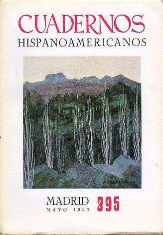 CUADERNOS HISPANOAMERICANOS. Revista mensual de cultura hispánica. Nº 395.