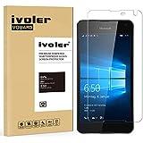 Microsoft Lumia 650 Protector de Pantalla Cristal, iVoler® Film Protector de Pantalla de Vidrio Templado Tempered Glass Screen Protector para Microsoft Lumia 650- Dureza de Grado 9H, Espesor 0,20 mm, 2.5D Round Edge-[Ultra-trasparente] [Anti-golpe] [Ajuste Perfecto] [No hay Burbujas]- Garantía Incondicional de 18 Meses
